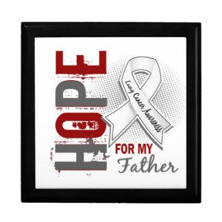 Esperanza de mi cáncer de pulmón del padre cajas de recuerdo
