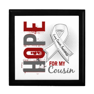 Esperanza de mi cáncer de pulmón del primo cajas de recuerdo
