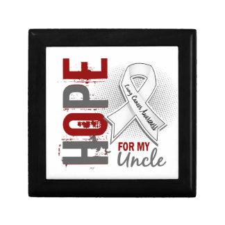 Esperanza de mi cáncer del tío pulmón caja de joyas