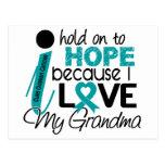 Esperanza de mi cáncer ovárico de la abuela postales