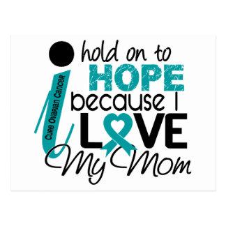 Esperanza de mi cáncer ovárico de la mamá tarjeta postal