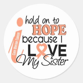 Esperanza de mi cáncer uterino de la hermana pegatina redonda