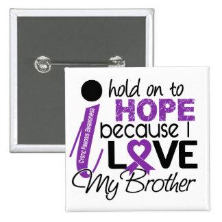 Esperanza de mi fibrosis quística de Brother Pin Cuadrada 5 Cm