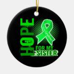 Esperanza de mi linfoma de la hermana adornos de navidad