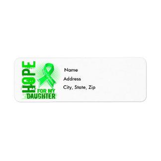 Esperanza de mi linfoma de la hija etiqueta de remitente
