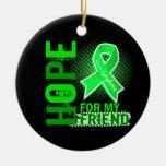 Esperanza de mi linfoma del amigo adorno de navidad