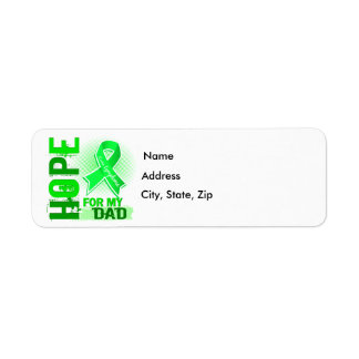 Esperanza de mi linfoma del papá etiqueta de remitente