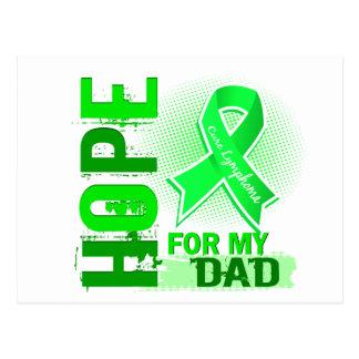 Esperanza de mi linfoma del papá tarjetas postales