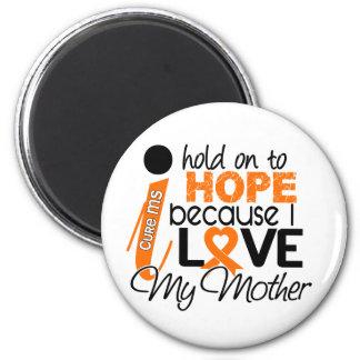 Esperanza de mi ms de la esclerosis múltiple de la imán redondo 5 cm