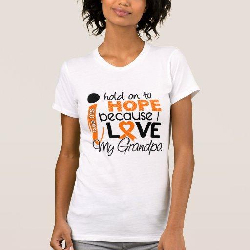 Esperanza de mi ms de la esclerosis múltiple del camiseta