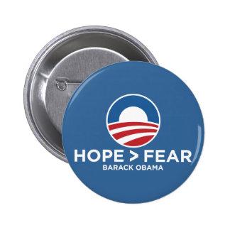 esperanza de obama 08 de la esperanza > del miedo  pin redondo de 2 pulgadas