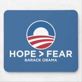 esperanza de obama 08 de la esperanza > del miedo  alfombrillas de ratón