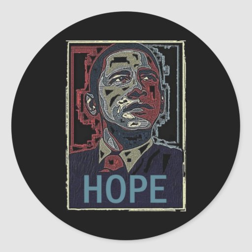 Esperanza de Obama Etiquetas Redondas