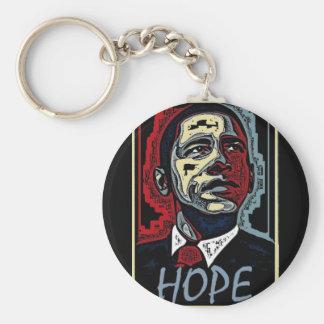 Esperanza de Obama Llavero Redondo Tipo Pin
