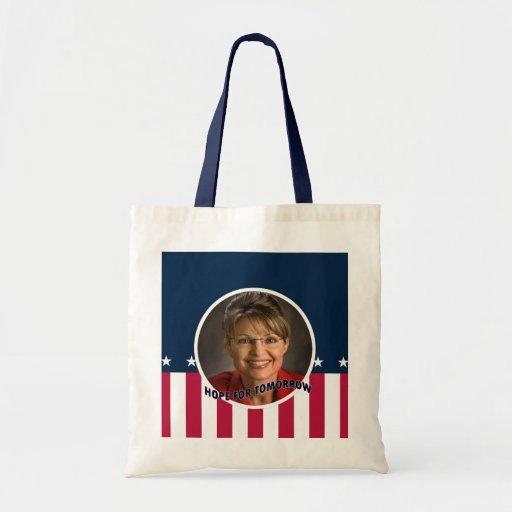 Esperanza de Palin de la bolsa de asas del presupu