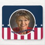 Esperanza de Palin de la mañana Mousepad Tapetes De Raton
