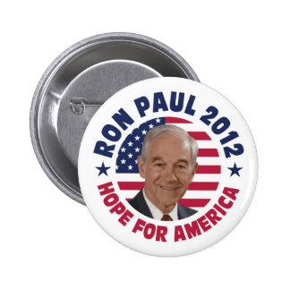 Esperanza de Ron Paul de América Pin Redondo 5 Cm