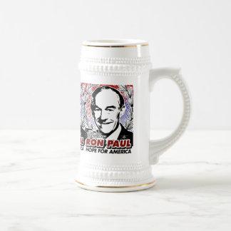 Esperanza de RON PAUL de la cerveza Stein de Améri Tazas De Café