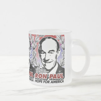 Esperanza de RON PAUL del café de América/de la Taza Cristal Mate