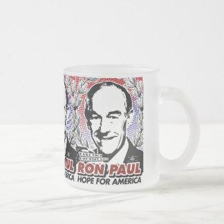 Esperanza de RON PAUL del café de América/de la Taza De Café Esmerilada