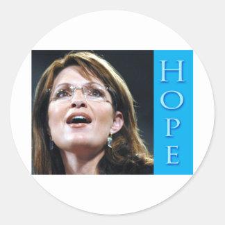 Esperanza de Sarah Palin Etiqueta Redonda