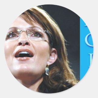 Esperanza de Sarah Palin Pegatinas Redondas