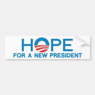 ESPERANZA de un NUEVO presidente Pegatina Para Auto