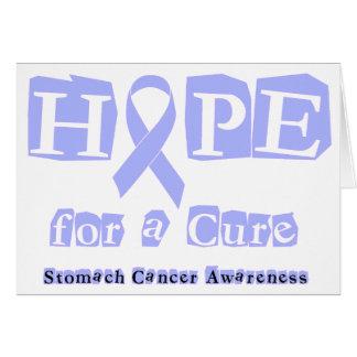 Esperanza de una curación - cáncer de estómago tarjeta de felicitación