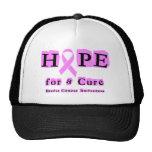 Esperanza de una curación - cáncer de pecho gorras