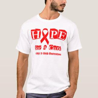 Esperanza de una curación - SIDA de la cinta y VIH Playera
