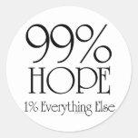 Esperanza del 99% etiqueta