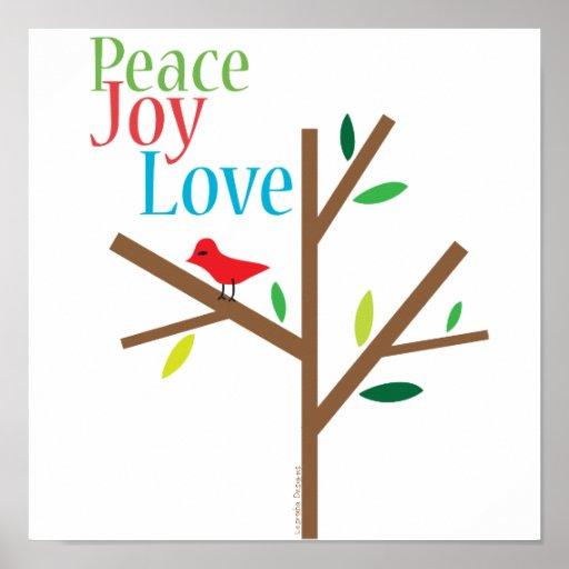 Esperanza del amor de la alegría de la paz póster
