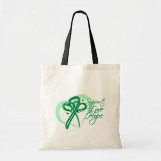 Esperanza del amor de la ayuda - cáncer de hígado bolsa lienzo