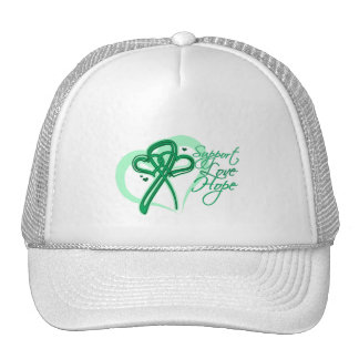 Esperanza del amor de la ayuda - cáncer de hígado gorros bordados