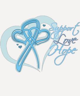 Esperanza del amor de la ayuda - cáncer de tee shirt