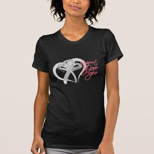 Esperanza del amor de la ayuda - cáncer de pulmón camiseta