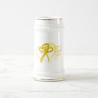 Esperanza del amor de la ayuda - sarcoma jarra de cerveza