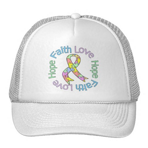 Esperanza del amor de la fe del autismo gorras