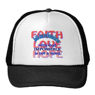 Esperanza del amor de la fe gorra