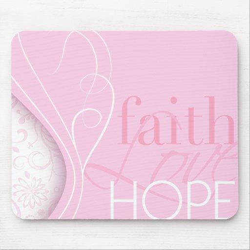 Esperanza del amor de la fe tapete de raton