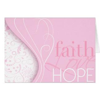 Esperanza del amor de la fe tarjeton