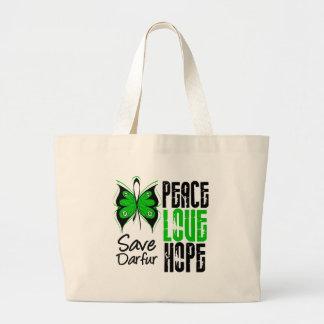 Esperanza del amor de la paz de Darfur Bolsa De Mano