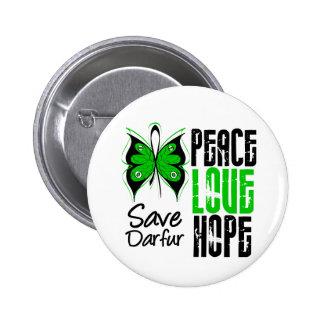 Esperanza del amor de la paz de Darfur Pins