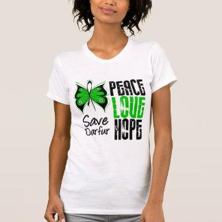 Esperanza del amor de la paz de Darfur Camiseta