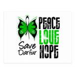 Esperanza del amor de la paz de Darfur Postal