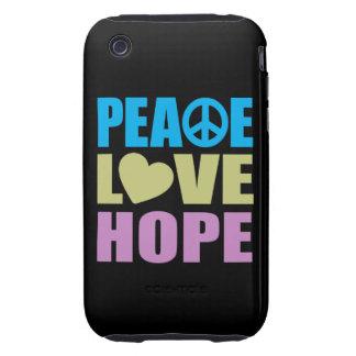 Esperanza del amor de la paz tough iPhone 3 cobertura