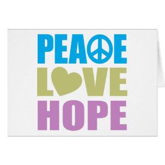 Esperanza del amor de la paz felicitacion