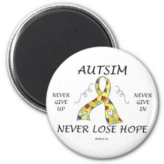 Esperanza del autismo imán redondo 5 cm