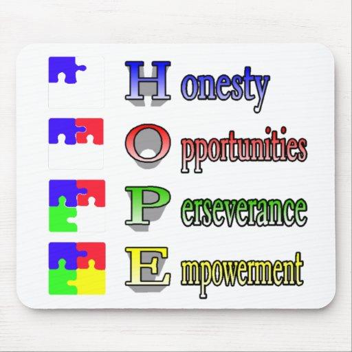 Esperanza del autismo mouse pads