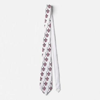 Esperanza del cáncer de pecho de la flor de lis corbata personalizada